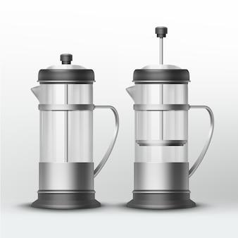 Máquinas de acero inoxidable para té y café.