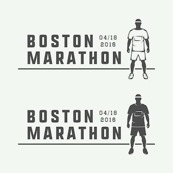 Maratón o logo de carrera