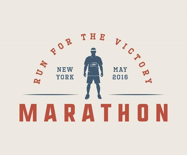 Maratón o logotipo de carrera.