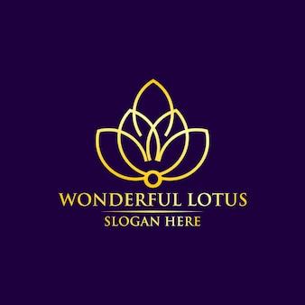 Maravilloso diseño de logotipo de lotus para plantilla