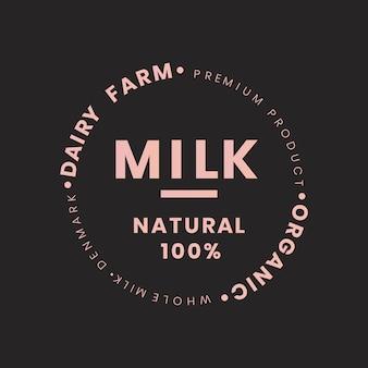 Marca de botella de leche