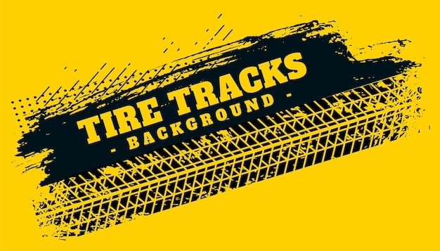 Marca de impresión de pista de neumático abstracto sobre fondo grunge