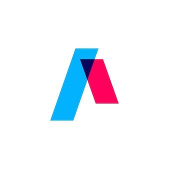 Una marca de letra superpuesta color logo vector icono ilustración