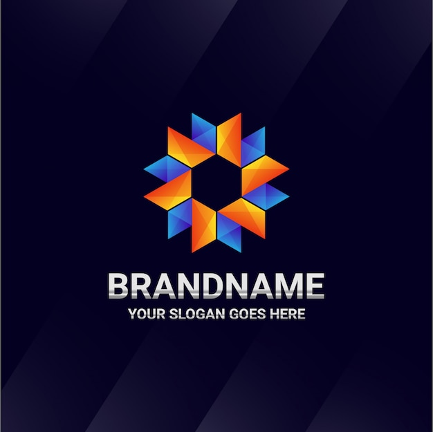 Marca de logotipo abstracto de origami