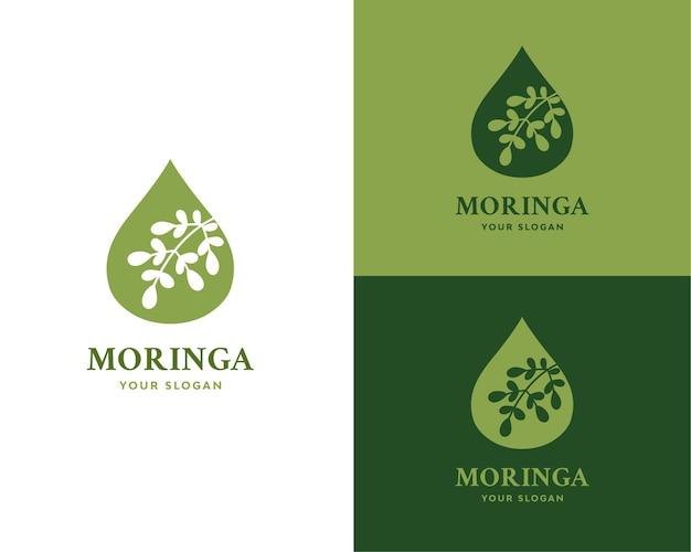 Marca de logotipo de aceite de moringa