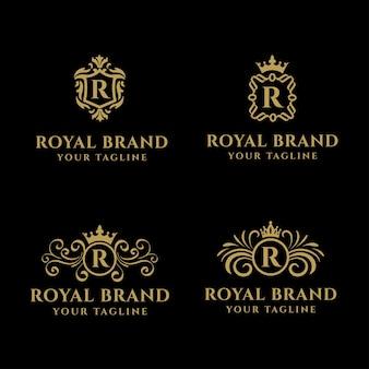 La marca royal es un logotipo con un aspecto clásico que se adapta a su proyecto o negocio, como un hotel, restaurante o villa.