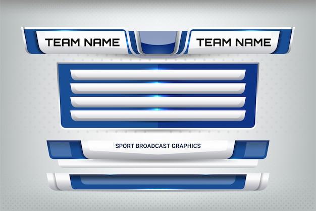 Marcador deportivo de emisión y tercios inferiores