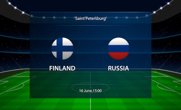 Marcador de fútbol de finlandia vs rusia.