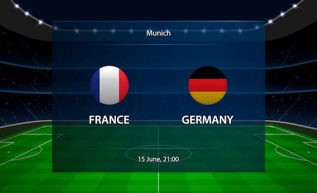 Marcador de fútbol de francia vs alemania.
