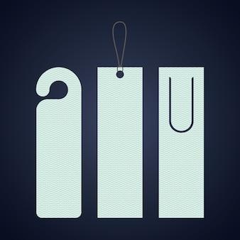 Marcar icono de etiqueta de etiqueta. guía de lectura de decoración y tema de la literatura. diseño colorido vector