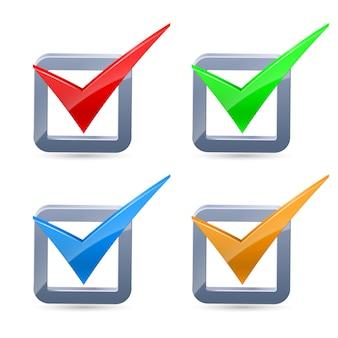 Marcas de verificación coloridas