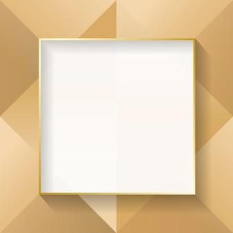 Marco abstracto beige cuadrado en blanco