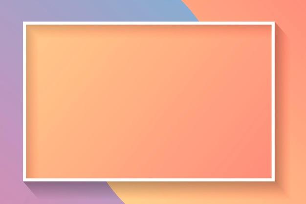 Marco abstracto colorido rectángulo en blanco