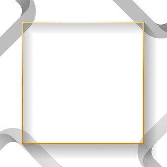 Marco abstracto cuadrado blanco en blanco