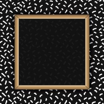Marco abstracto cuadrado en blanco