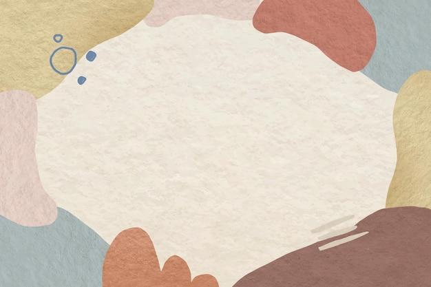 Marco abstracto con patrón de tono tierra