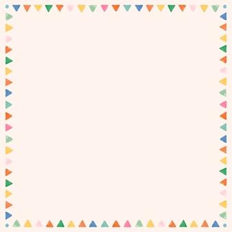 Marco acuarela colorido en blanco