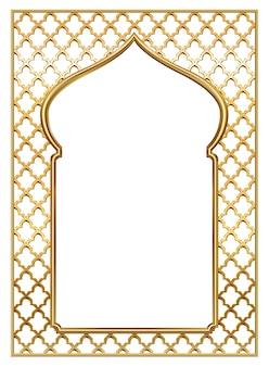 Marco de arco vintage dorado oriental