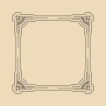 Marco art deco. patrón gráfico de ilustraciones. plantilla creativa de fondo de invitación de boda. retro vintage