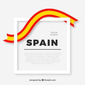 Marco con bandera española