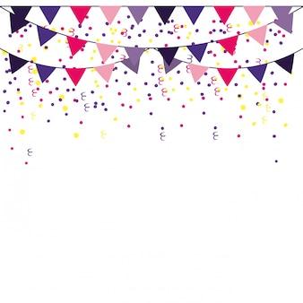 Marco de banderines de fiesta