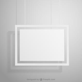 Marco blanco colgante