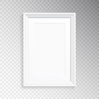 Un marco blanco realista para fotografía o pintura.
