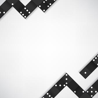 Marco de bloques negro en vector de fondo gris en blanco
