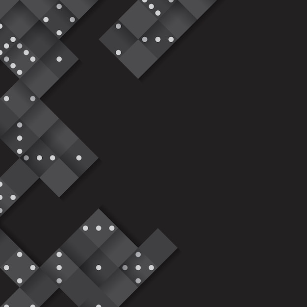 Marco de bloques negro en vector de fondo negro en blanco