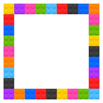 Marco de bloques de plástico para niños con copyspace