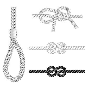Marco de borde de cuerda vintage en vector