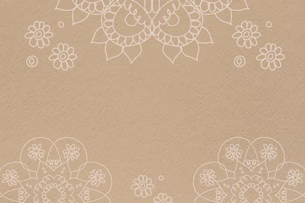 Marco de borde diwali diseño de mandala indio