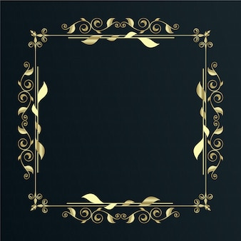 Marco de borde ornamental dorado