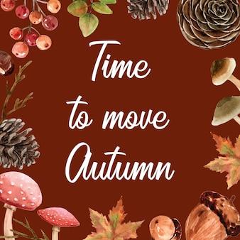 Marco de borde con temática de otoño.