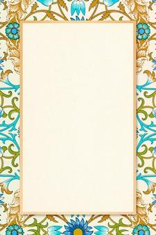 Marco botánico bohemio patrón de william morris