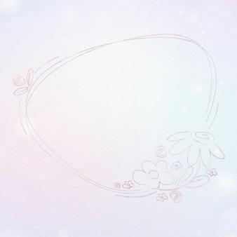 Marco botánico dibujado a mano