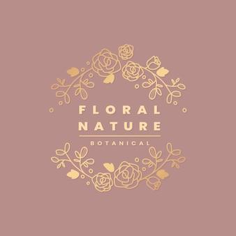 Marco botánico floral