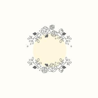 Marco botánico vector elemento de diseño