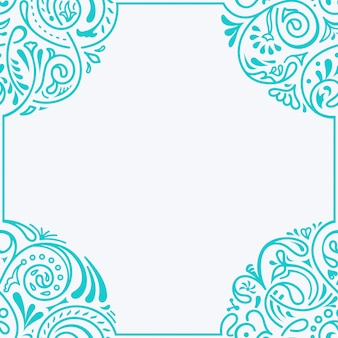 Marco caligráfico floral