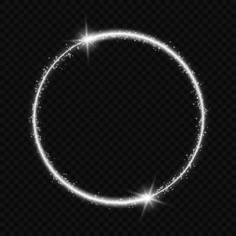 Marco circular con efecto de luz.
