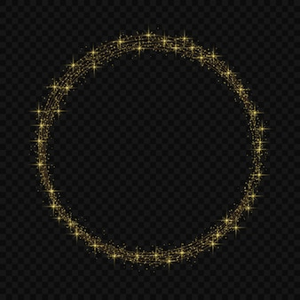 Marco circular con efecto mágico de brillo de luz