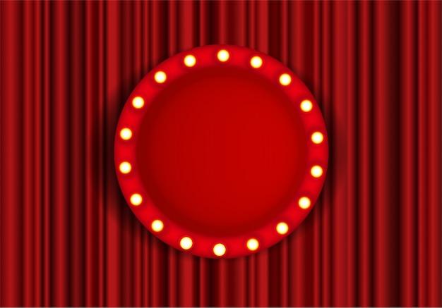 Marco de círculo de escenario de festival, espectáculo o teatro