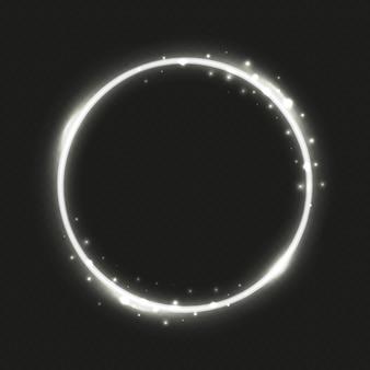 Marco de círculo plateado.
