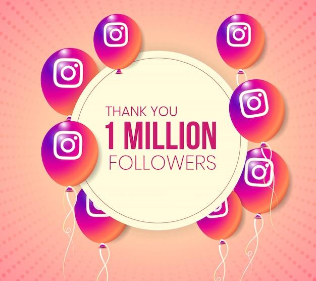 Marco de colección de globos 3d de instagram para logros importantes