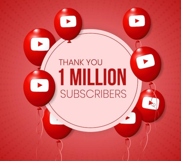 Marco de colección de globos 3d de youtube para el logro de hitos