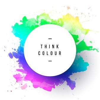 Marco colorido de acuarela