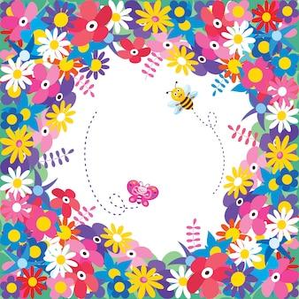 Marco colorido para el feliz día del niño