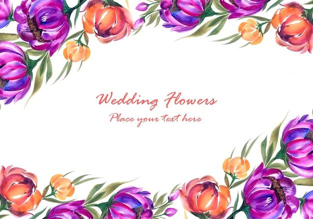 Marco de composición floral decorativa.