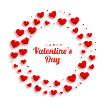 Marco de corazones hermosos para el día de san valentín