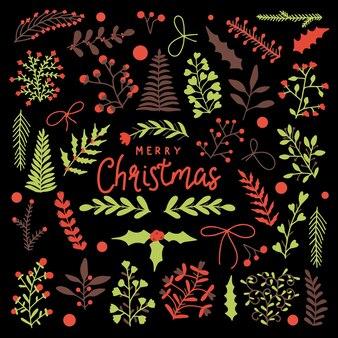 Marco de corona de año nuevo de ramas. decoración para navidad.